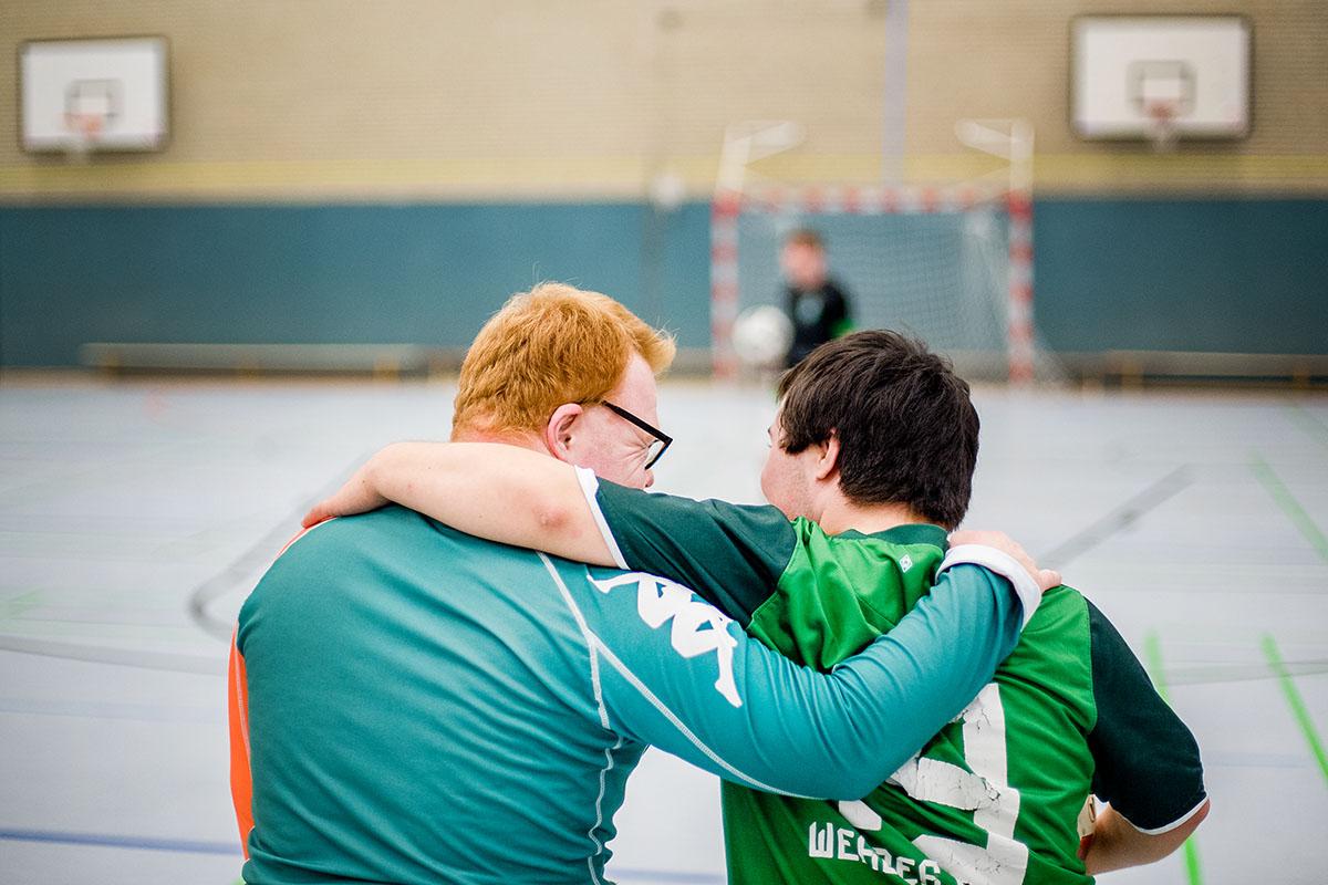 Freunde fürs Leben: Die Handicappers verbindet nicht nur die Liebe zum Fussball